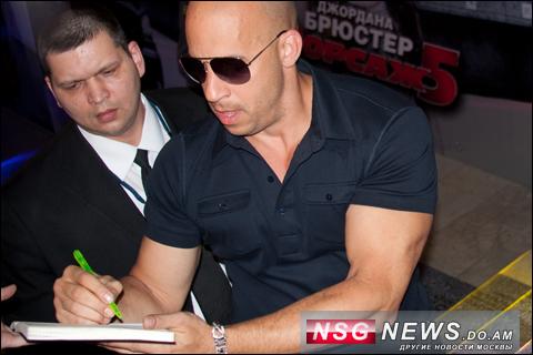 Вин Дизель, в Москве, 2011, NSG News