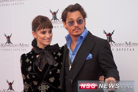 Джонни Депп и Пенелопа Крус в Москве, 2011, NSG News